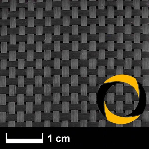Kohlegewebe 160 g/m² (Aero, Leinwand) 100 cm